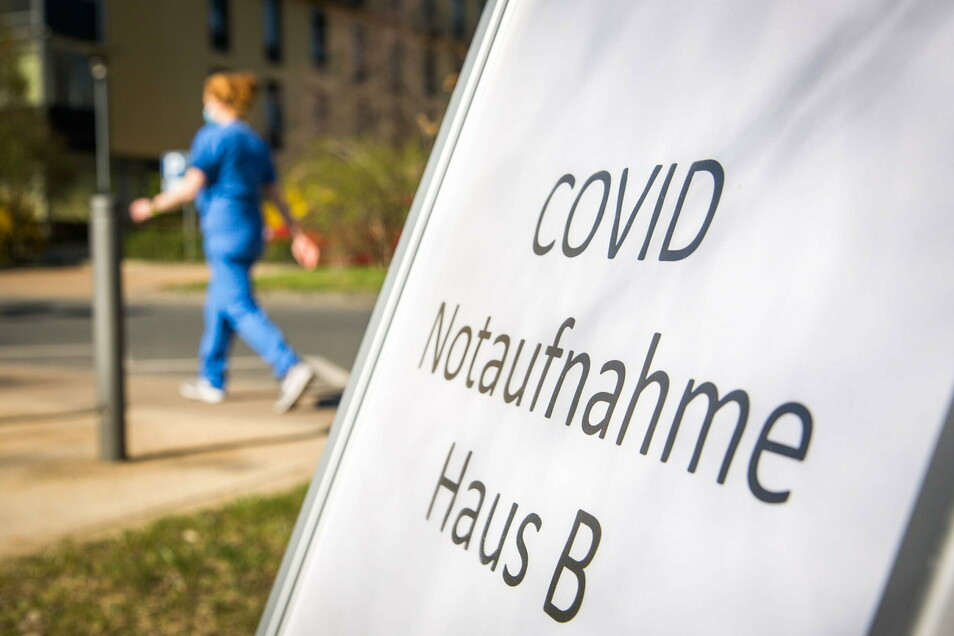Die Corona-Kapazitäten am Städtischen Klinikum Dresden sind erschöpft.