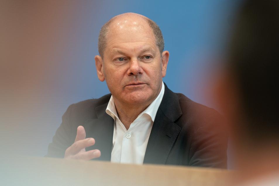 Will in Pirna auch über die Grundrente sprechen: Olaf Scholz im Wahlkampf.