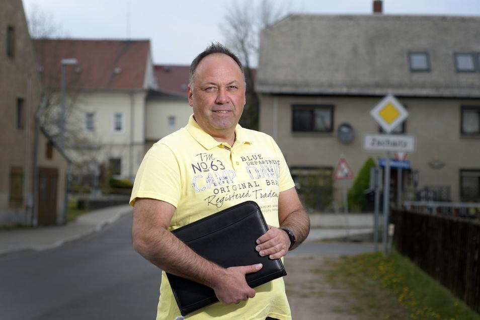Mario Oehmigen tritt für die Freien Wähler der Gemeinde Zschaitz-Ottewig bei der Kommunalwahl an.