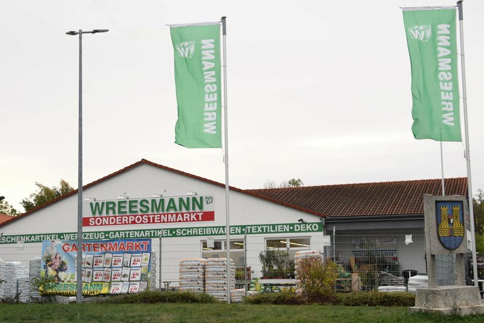 Der Wreesmann-Sonderpostenmarkt in Reichenbach.
