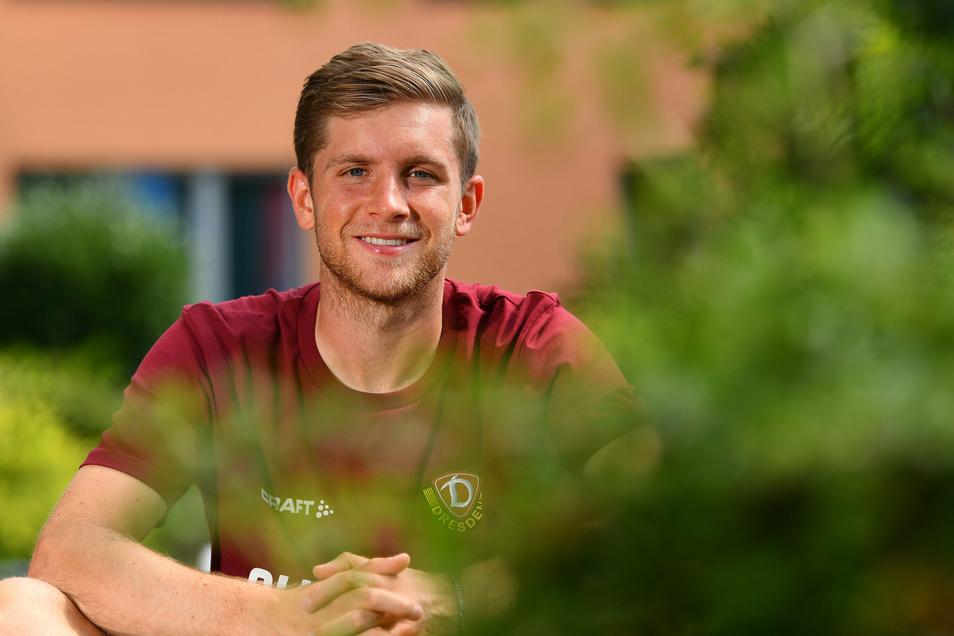 Patrick Weihrauch ist derzeit mit Dynamo im Trainingslager im Heilbad Heiligenstadt. Der Neuzugang hat eine spannende Vergangenheit.