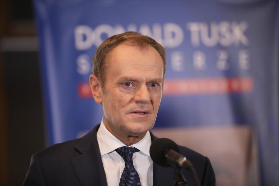 Der  frühere EU- Ratspräsident Donald Tusk sieht die Entwicklung in Polen mit Sorge.