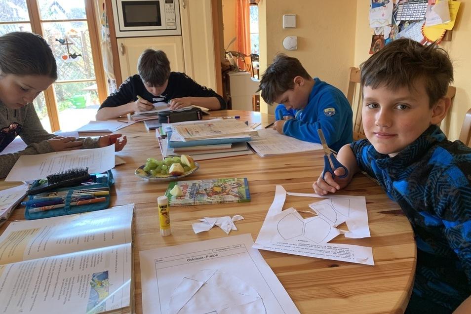 Neben Sport stehen für Jonathan und seine Geschwister beim Heimunterricht aber vor allem Hausaufgaben im Stundenplan.