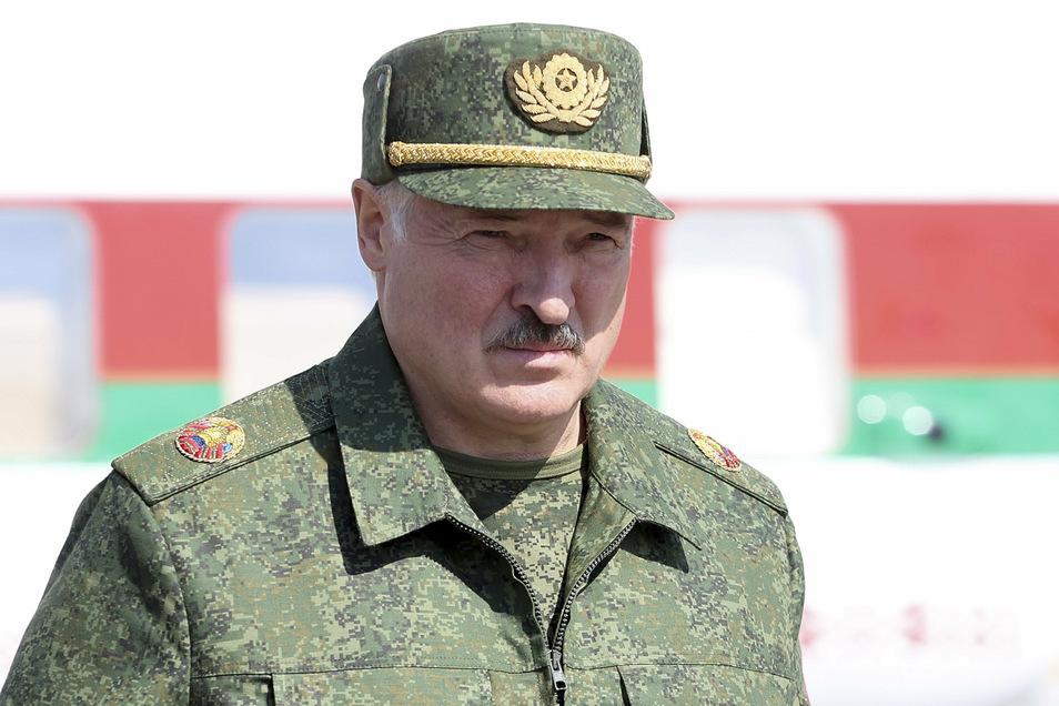 """Alexander Lukaschenko, Präsident von Belarus, wird als """"letzter Diktator Europas"""" bezeichnet."""
