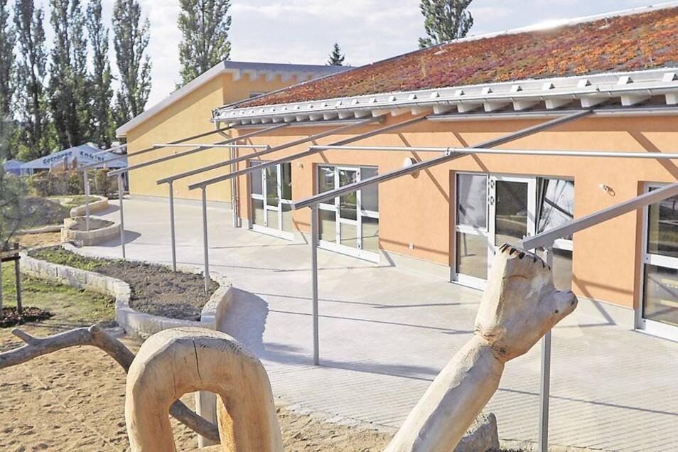 Die Kita in Kleinröhrsdorf Nach 17 Monaten Bauzeit wurde die neue Kindertagesstätte für 1,9 Millionen Euro im vorigen Herbst eingeweiht.