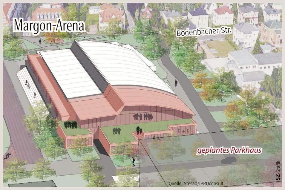 Das Parkhaus an der Margon-Arena muss nun doch nicht gebaut werden. Damit wird das Bauprojekt um einiges günstiger.