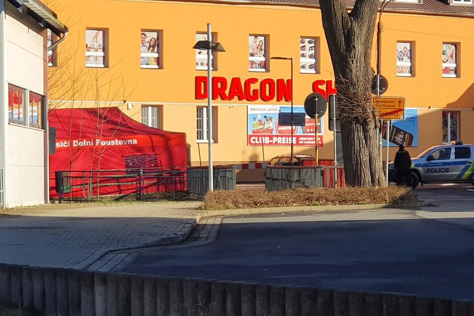Der Grenzübergang in Sebnitz ist seit Sonnabend geschlossen.