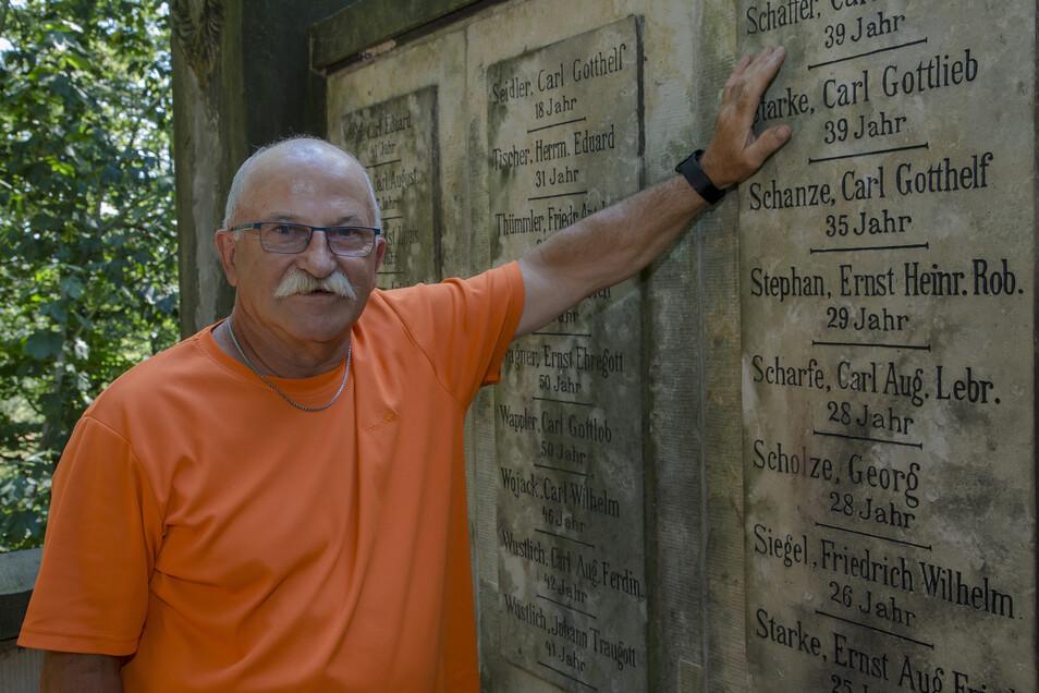 Reinhard Schanzes Urgroßvater zählte zu den Toten des Grubenunglücks im Segen-Gottes-Schacht.