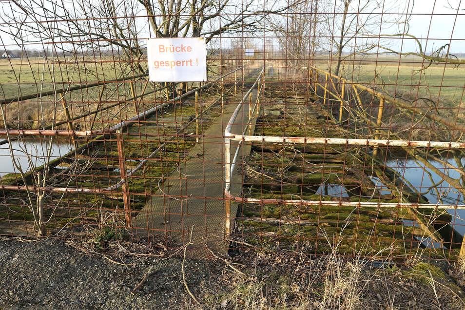 So sah die Schafbrücke vor der Sanierung aus.