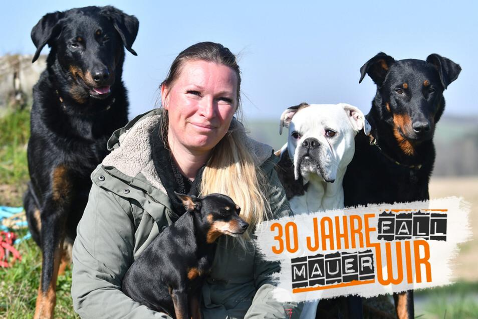 Rückkehrerin Juliane Hille aus Sebnitz. Sie führt eine Hundeschule.