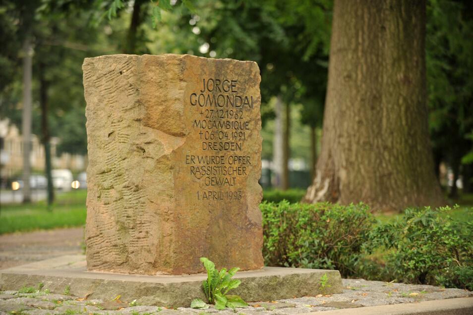 Der Gomondai-Gedenkstein auf dem Jorge-Gomondai-Platz.