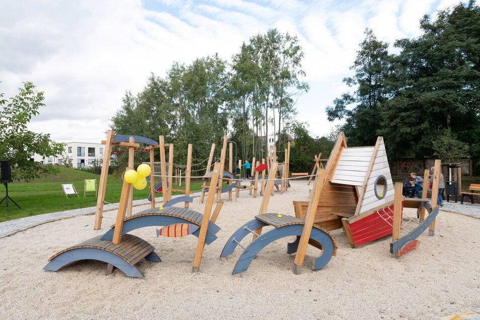 So sieht der neue Spielplatz zwischen Leuben und Laubegast aus.