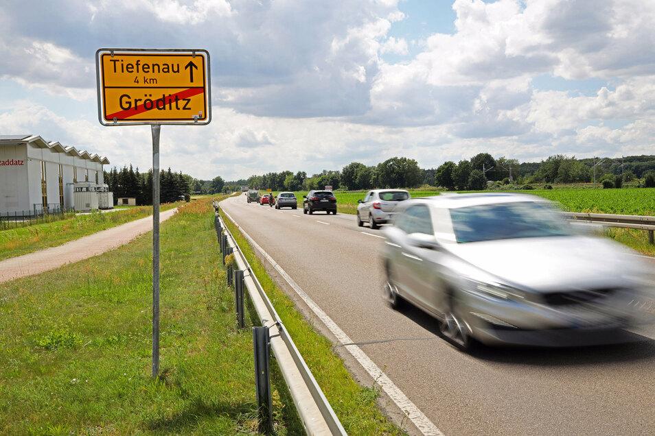 Die B169 bei Gröditz ist ab 6. Juli für mehrere Wochen gesperrt.