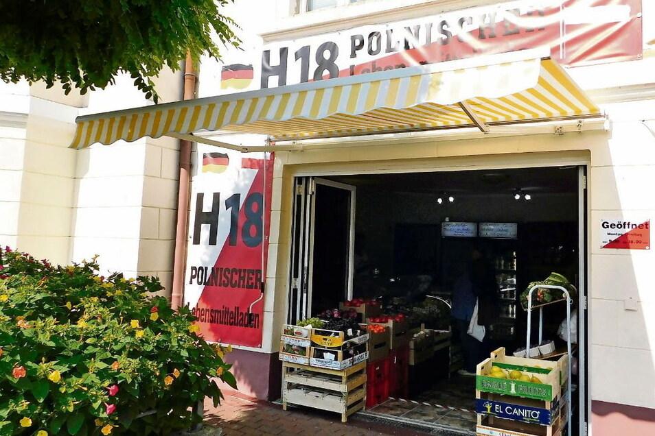 In der Görlitzer Straße in Bad Muskau gibt es wieder ein Lebensmittelgeschäft. Es bietet ausschließlich polnische Waren an.