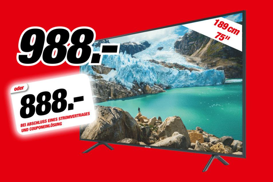 Samsung UE 75 RU 7099 für 988 Euro