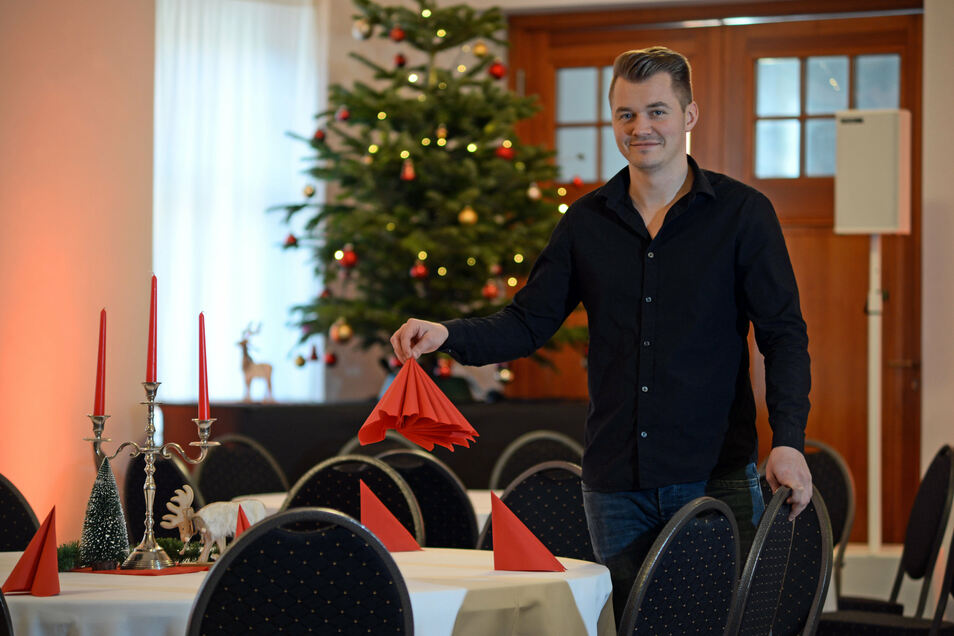 Gaststätte Gerichtskretscham Kunnersdorf mit Inhaber Valentin Kelpatzki (29)