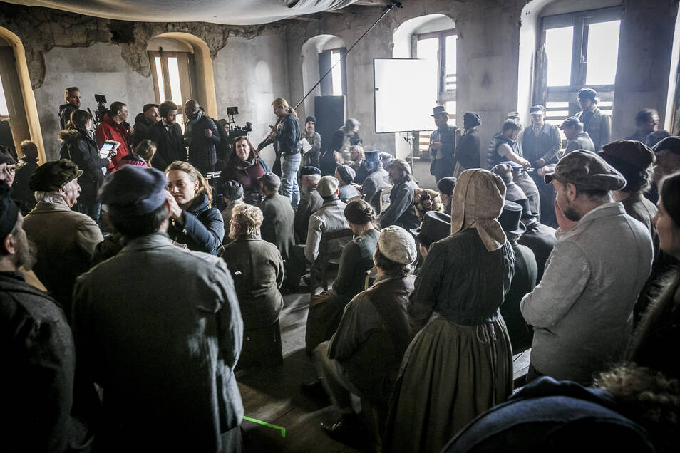 """Der Film """"Der junge Karl Marx"""" wurde teilweise im """"Braunen Hirsch"""" am Untermarkt in Görlitz gedreht."""