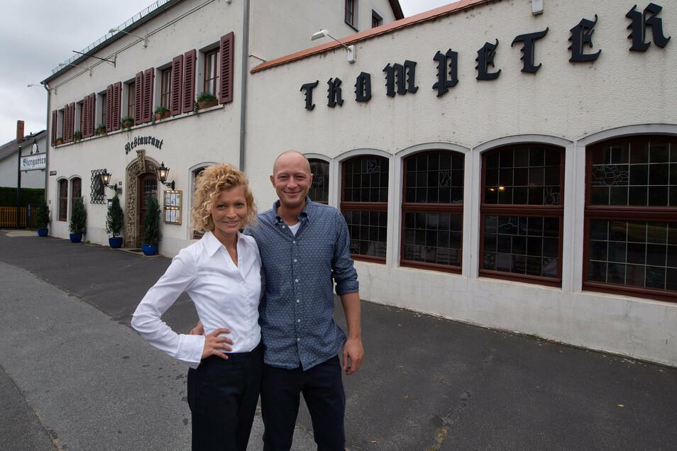 Wirte im Trompeter: Alexandra Göllner und Stefan Flügge