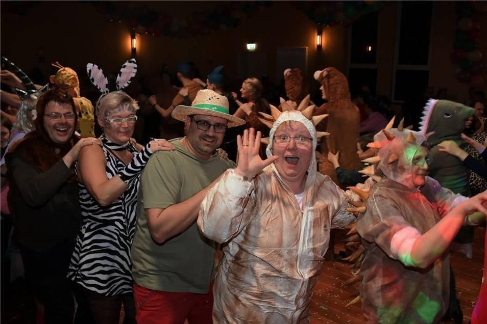 Fast alle Gäste des Karnevalsclub Haßlau hatten sich als Tiere verkleidet.