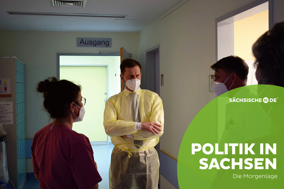 Michael Kretschmer im Klinikum Görlitz