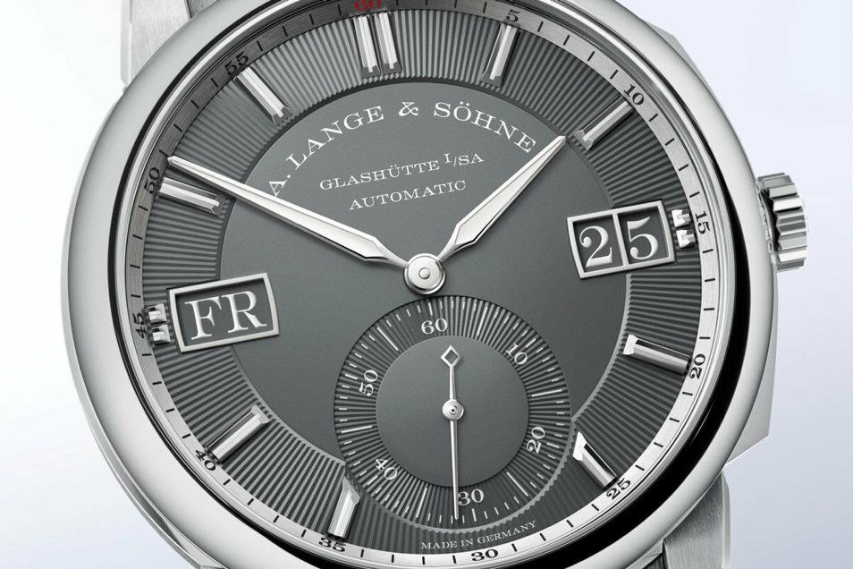 Diese neue Uhr stellte Lange in diesem Jahr vor: Das Modell Odysseus in der Weißgold-Ausführung, Preis: 38.500 Euro.