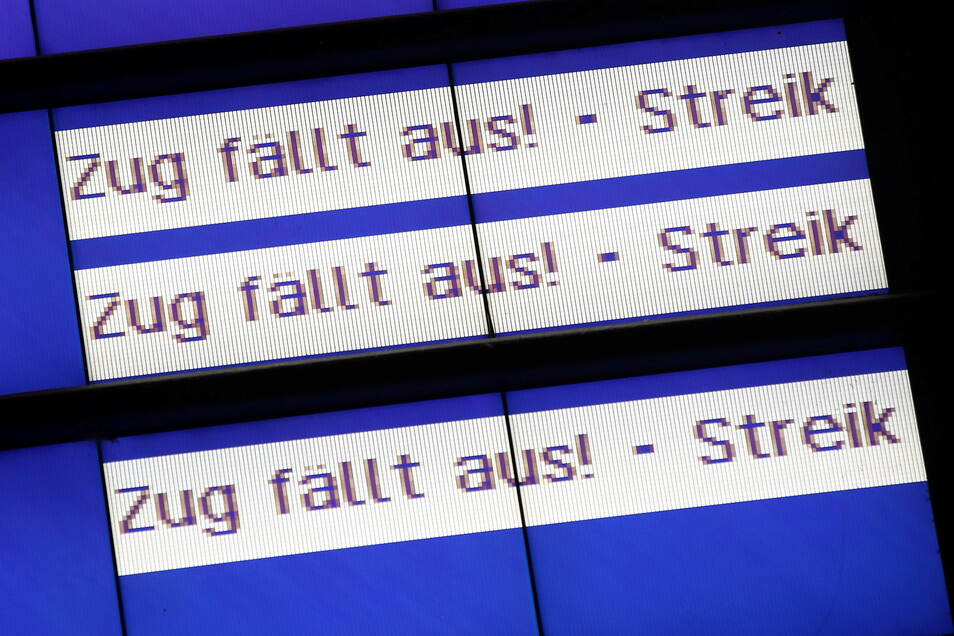 Die Lokführergewerkschaft GDL ruft zum Streik bei der Deutschen Bahn von Samstag bis kommende Woche Mittwoch auf.