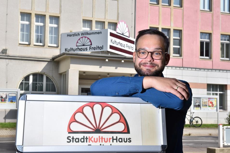 Jan Albrecht ist zuversichtlich, dass die neue Spielzeit im Stadtkulturhaus Freital ein Erfolg wird.