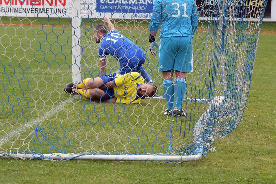 Hart umkämpft war am vergangenen Wochenende das Spitzenspiel zwischen dem Roßweiner SV und dem SV Ostrau (Szenenfoto). Für eine Überraschung sorgte dagegen Neuling BC Hartha.