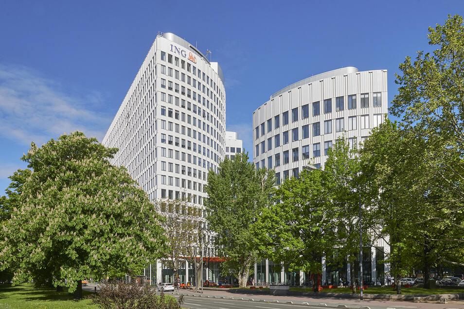 Blick auf den Sitz der ING in Frankfurt.