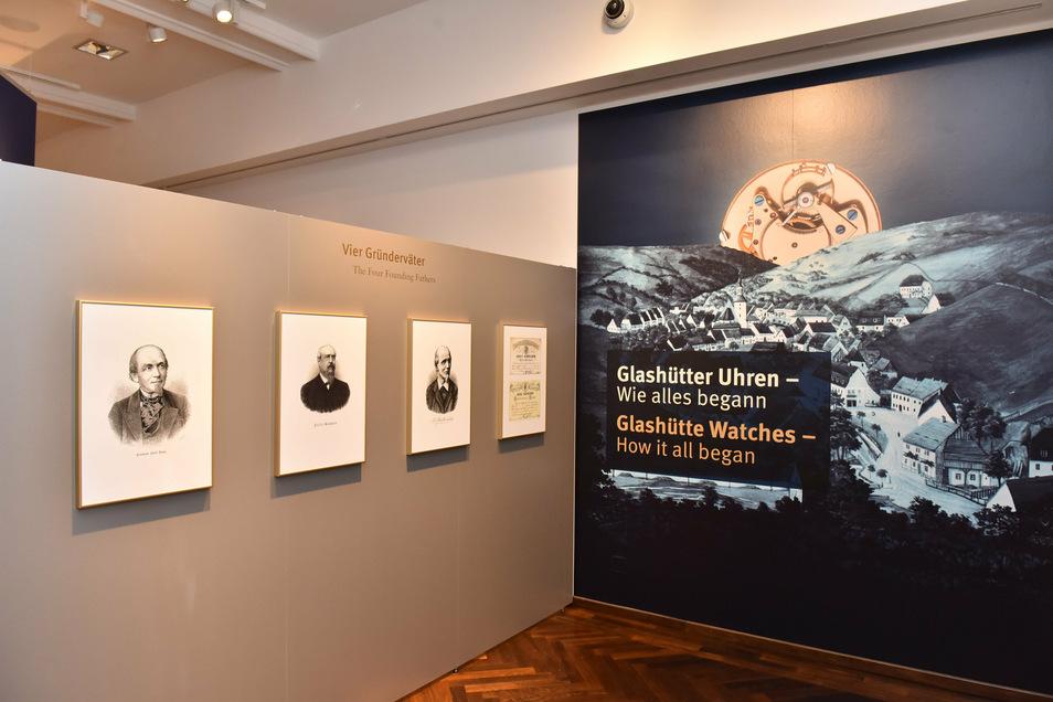 Die Glashütte Uhrenindustrie hat vier Gründerväter: Ferdinand Adolph Lange, Julius Assmann, Moritz Grossmann und Adolf Schneider.