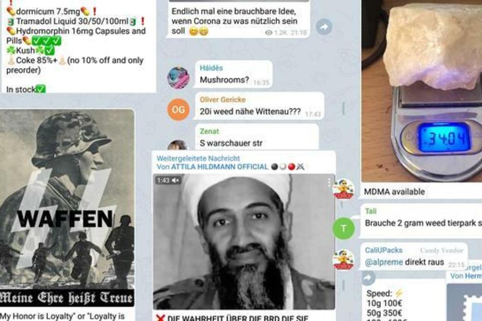 Kokain, Anleitung zum Bombenbau, Nazi-Hetze – kein Problem beim Messenger-Dienst Telegram.