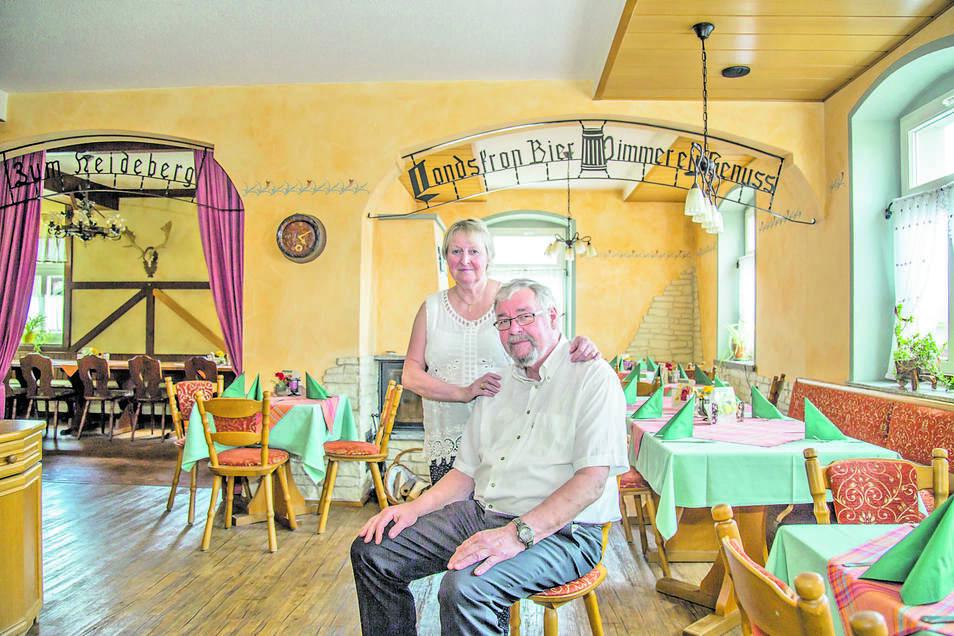 Petra und Joachim Frinker führen seit 1986 die Gaststätte und später das Landhotel in Kollm. Nun gehen sie in Rente.