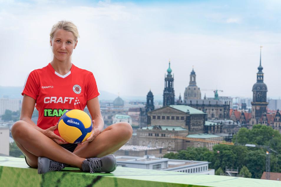 Im Sommer 2019 war Mareen von Römer noch optimistisch. Doch eine Lungenentzündung macht der Kapitänin der Dresdner Volleyballerinnen schwer zu schaffen.