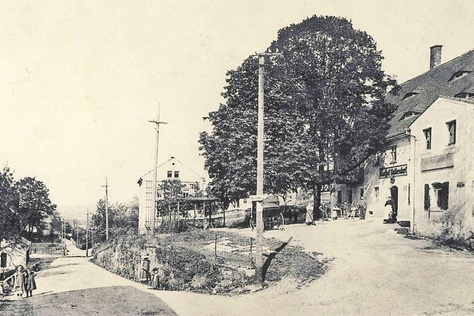 1905 wurde diese Postkarte gedruckt mit dem Gasthof als Motiv.