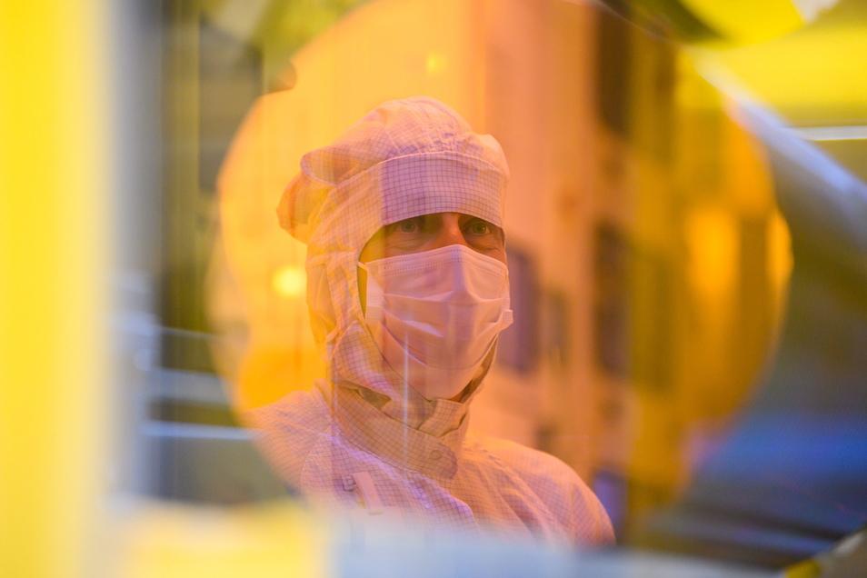 Auf einer Fläche von 72.000 Quadratmetern arbeiten im Dresdner Bosch-Werk heute schon rund 250 Mitarbeiter.