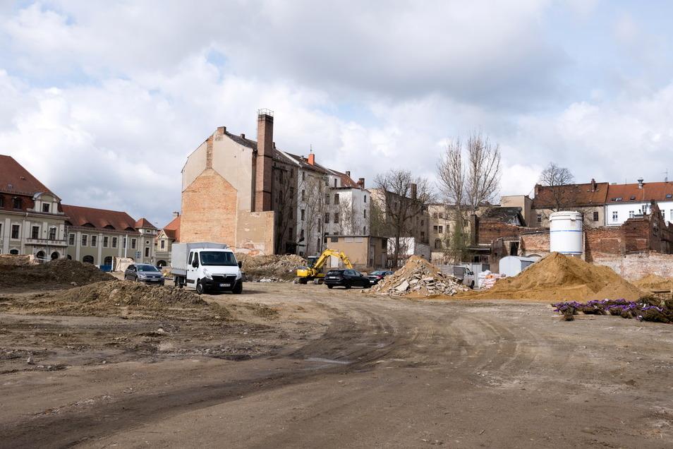 Die Baustelle für den neuen Senckenberg-Campus: Bis 2023, so der Plan, soll der Komplex stehen.