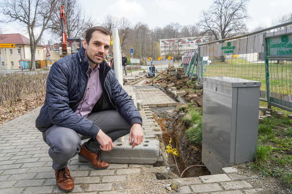 Erik Wasner leitet das Teilprojekt Kabelnetz bei der SachsenEnergie und sorgt dafür, dass in Bischofswerda die Technik von Infokabel auf den neuen Stand gebracht wird. Kurze Ausfälle seien dafür unvermeidbar.