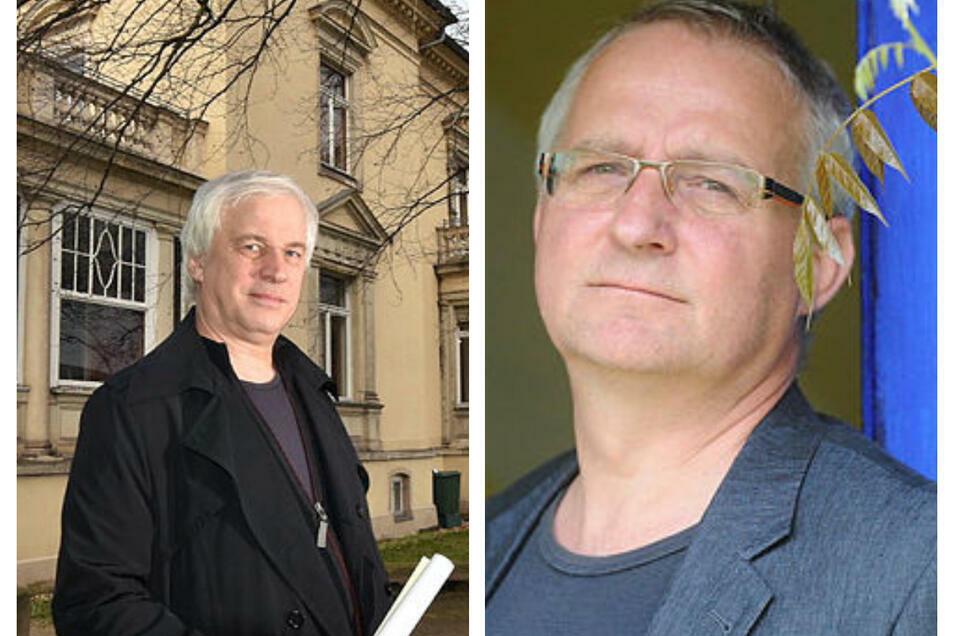 Jens Hommel (links) hat nach sechs Jahren die Hillersche Villa verlassen, bis ein Nachfolger gefunden ist, übernimmt Thomas Pilz (rechts) die Geschäftsleitung.