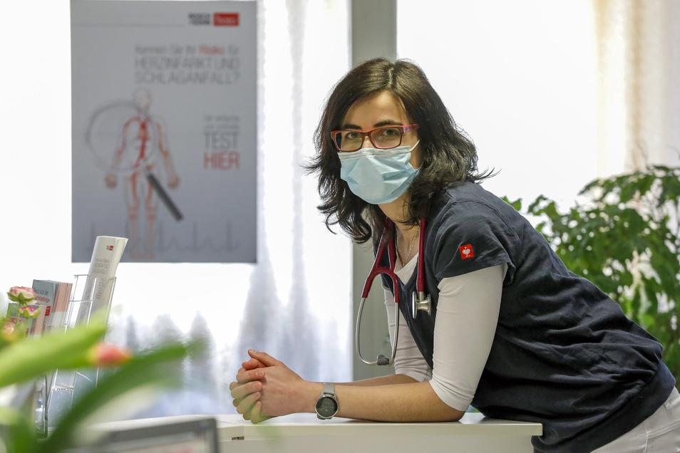 Dr. Zuzana Cizkova aus Liberec (Reichenberg) arbeitet als Hausärztin in einer Gemeinschaftspraxis in Zittau. Ab Donnerstag ist die Grenze für sie geschlossen. Sie muss zu Hause bleiben.