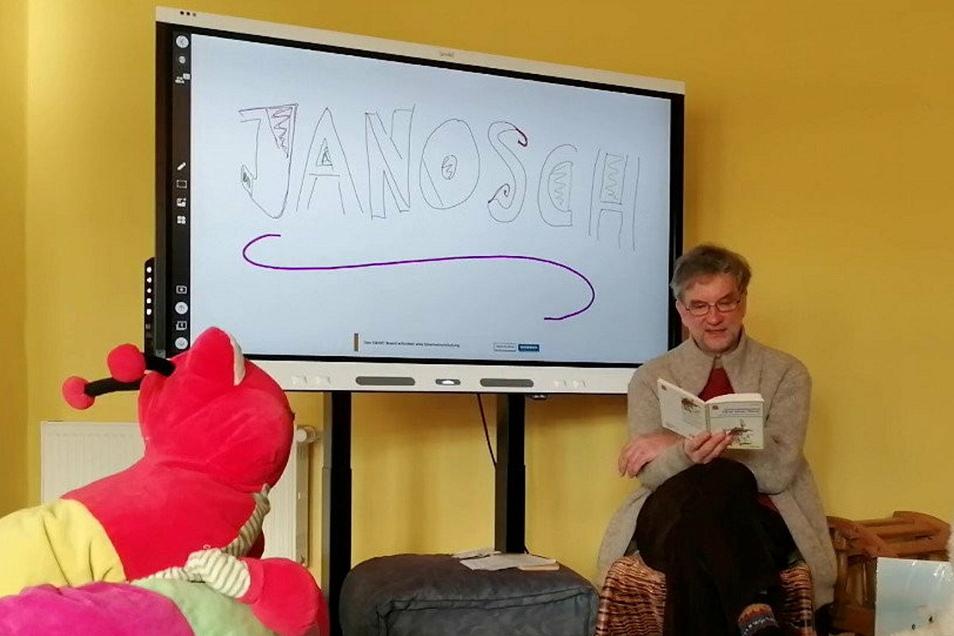 Jürgen Knospe hat für die Stadtbibliothek Bischofswerda aus den Büchern von Janosch vorgelesen. Das Video davon kann weiterhin angesehen werden.