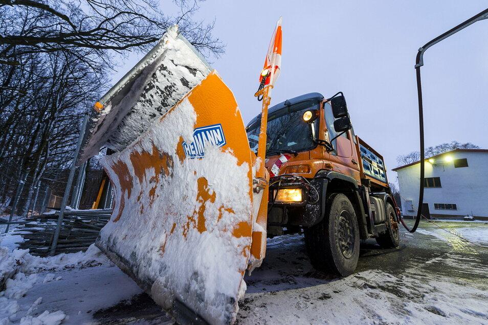 Der Winterdienst ist in diesen Tagen überall rund um Görlitz im Einsatz.