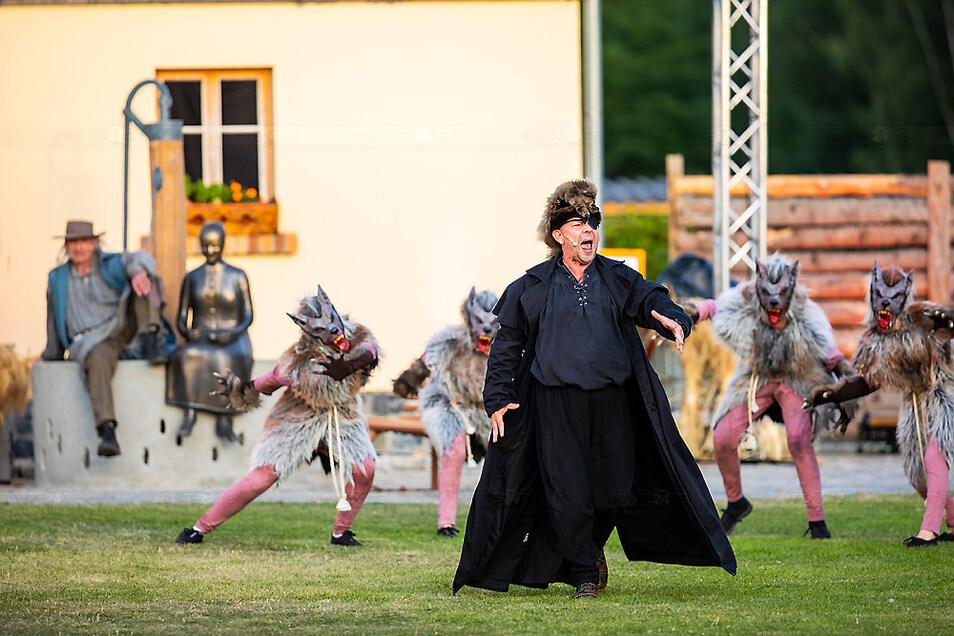 Eine Szene von den Krabat-Festspielen aus dem Jahr 2019.