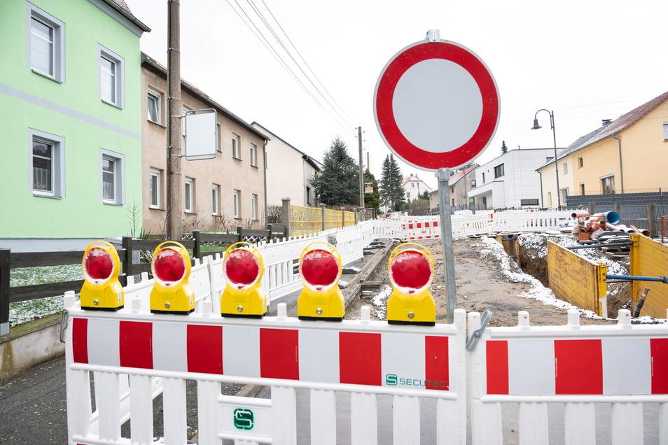 Ende in Sicht: Die Dauerbaustelle in der Stolpener Straße geht bis Juni 2021.