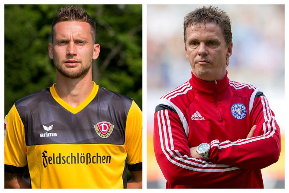 Manuel Konrad hat für Dynamo zwischen 2016 und 2018 insgesamt 44 Spiele bestritten, Karsten Neitzel (rechts) seine Anfänge als Profi in Dresden erlebt. Jetzt treffen sich beide in Malaysia.