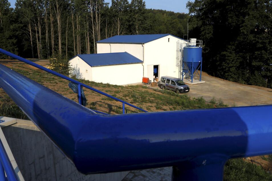 Das neue Wasserwerk in Ebersbach-Neugersdorf.