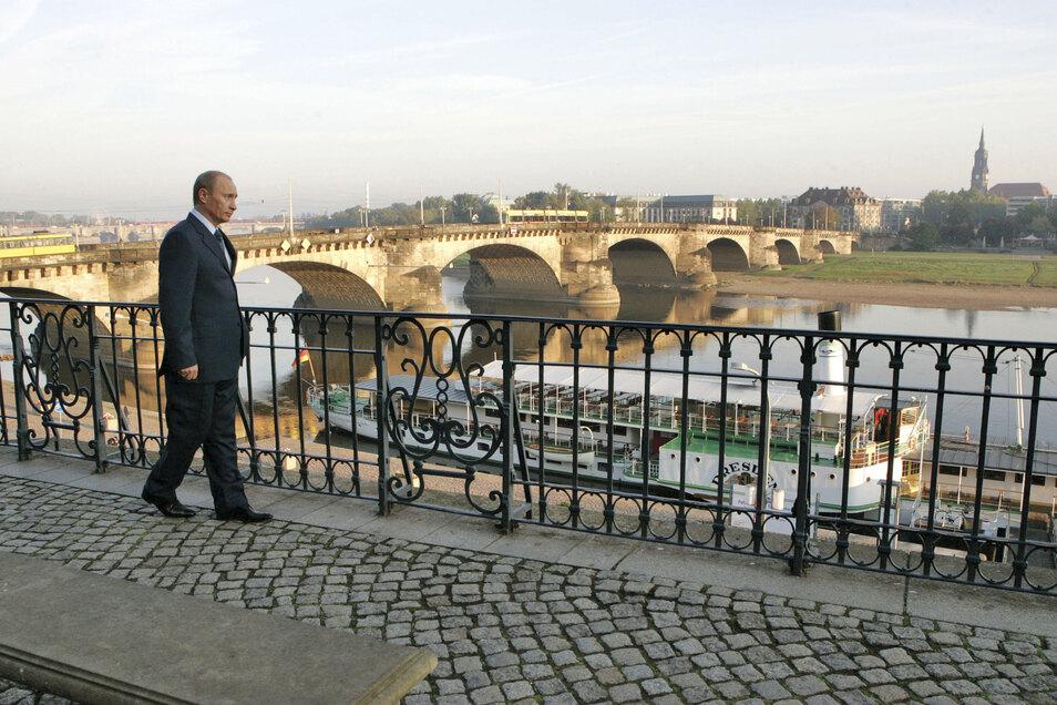 Wladimir Putin war auch als russischer Präsident mehrfach in Dresden - wie hier im Jahr 2006.