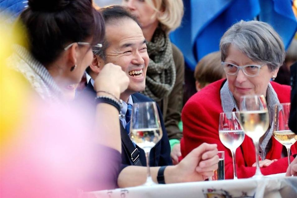 Auch der Bürgermeister der Partnerstadt Arita Takatoshi Yamaguchi hatte viel Spaß.