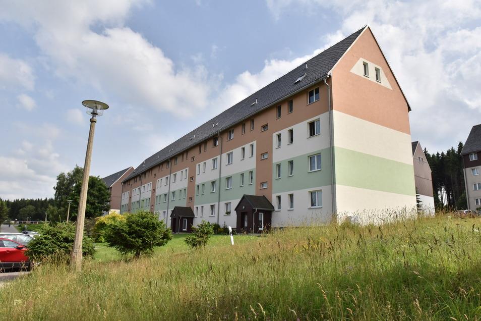 Die Wohnungsgenossenschaft Geising-Altenberg vermietet Wohnungen an fünf Standorten. Dazu gehört auch dieser Block im Neubaugebiet an der Altenberger Walter-Richter-Straße.