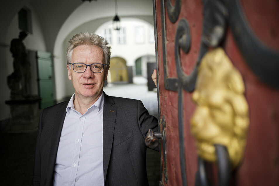 Jasper von Richthofen ist Leiter des Kulturhistorischen Museums. Er freut sich auf die neue Sonderausstellung im Kaisertrutz, die Mitte Mai öffnen soll.