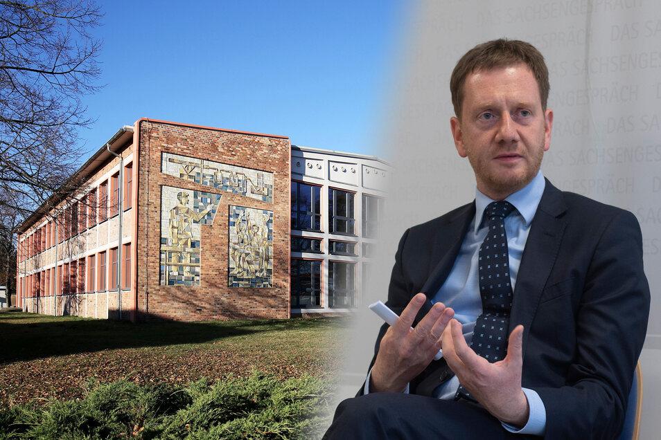 Plant eine Stippvisite in Strehlas Oberschule: Sachsens Regierungchef Michael Kretschmer (CDU). Anlass gibt ein Brief von Elternvertretern über den Lehrermangel in der Einrichtung.